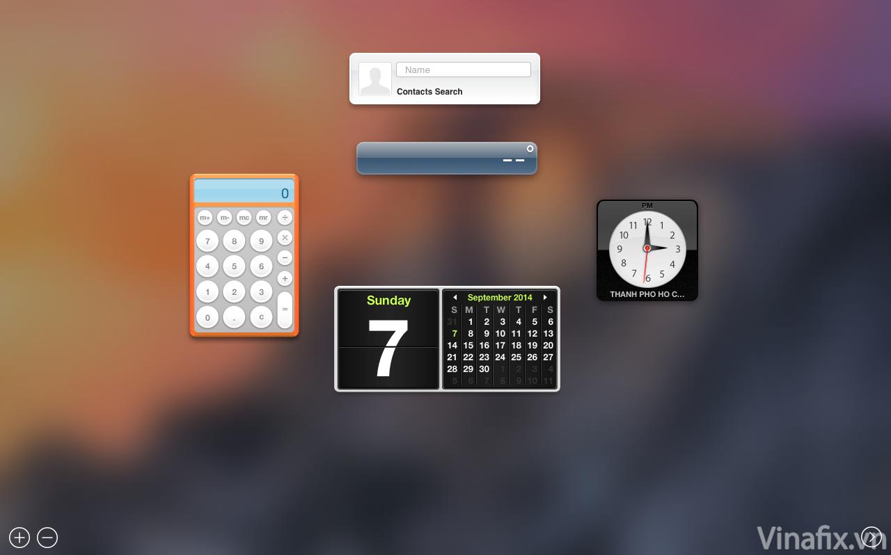 dashboard mac os.
