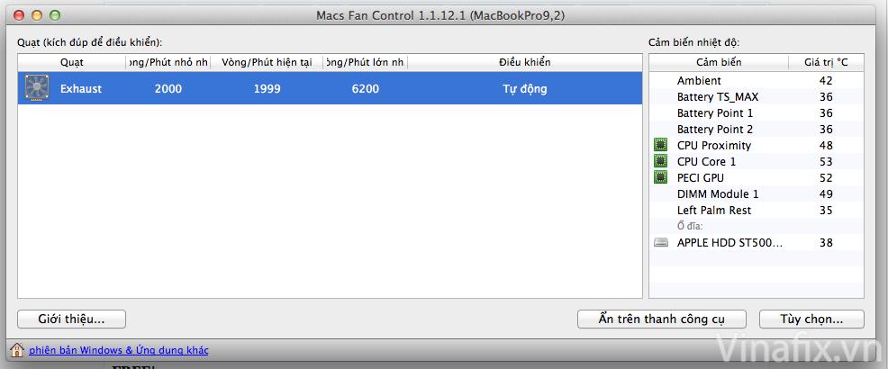 Macs Fan Control.