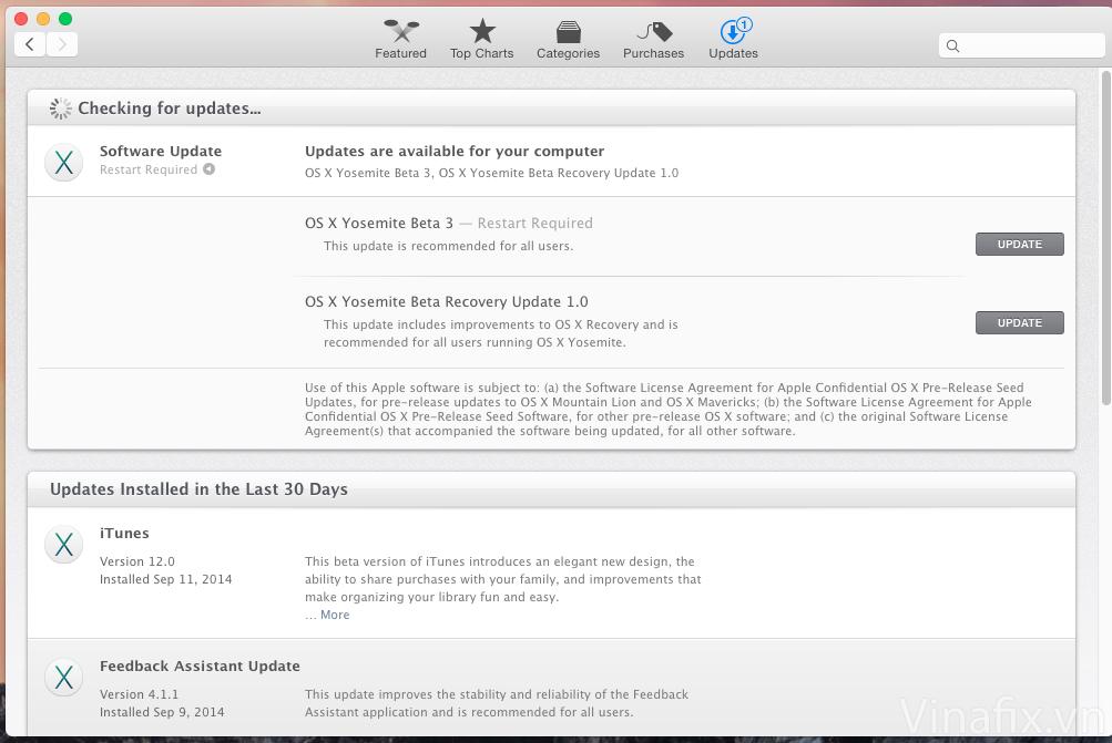 OS X Yosemite Beta 3.