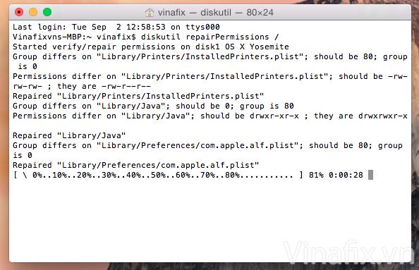 Terminal repair disk.